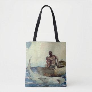 Bolsa Tote Pesca do tubarão - local Winslow 1885
