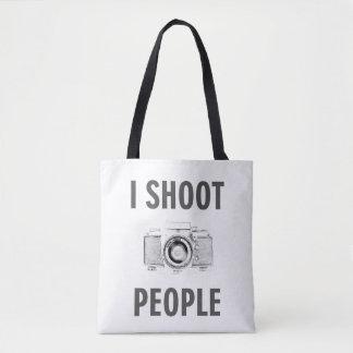 Bolsa Tote pessoas do fotógrafo engraçado da câmera da foto