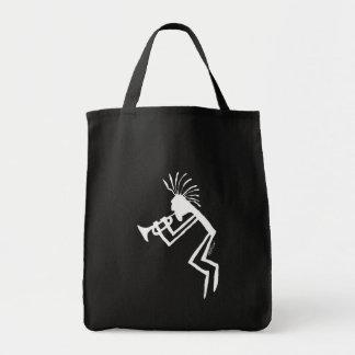 Bolsa Tote Petroglyph do jogador de trombeta de Kokopelli