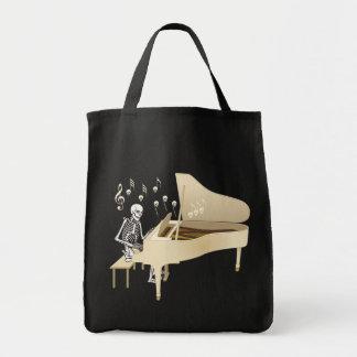 Bolsa Tote Pianista de esqueleto