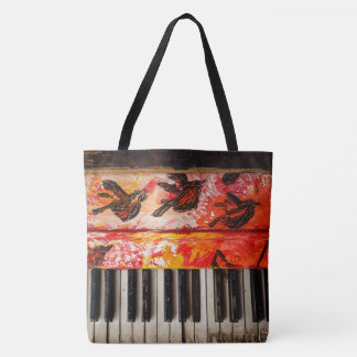 Bolsa Tote Piano velho colorido