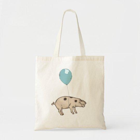 Bolsa Tote Pig in a balloon