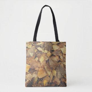 Bolsa Tote Pilha das folhas de outono