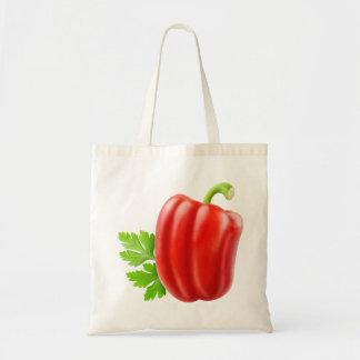 Bolsa Tote Pimenta de sino vermelha