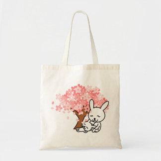 Bolsa Tote Pin do coelho da mãe e da criança
