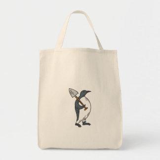 Bolsa Tote Pinguim de imperador que guardara o desenho da pá