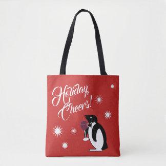 Bolsa Tote Pinguim dos elogios do feriado