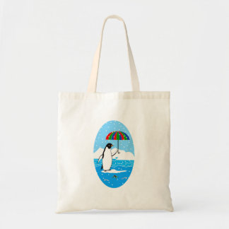 Bolsa Tote Pinguim na neve na sacola do orçamento
