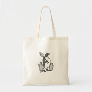 Bolsa Tote Pinguim que guardara a pá com tiragem dos