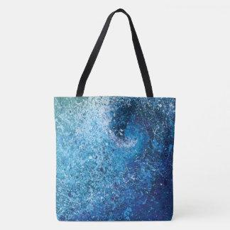 Bolsa Tote Pintura abstrata das belas artes da onda da praia