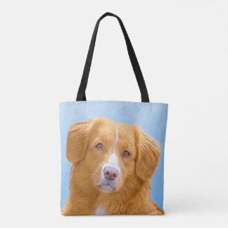 Bolsa Tote Pintura anunciando do cão do Retriever do pato de