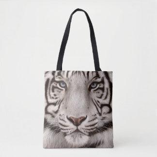 Bolsa Tote Pintura branca do tigre