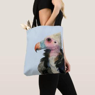 Bolsa Tote Pintura Branco-Dirigida da aguarela do abutre