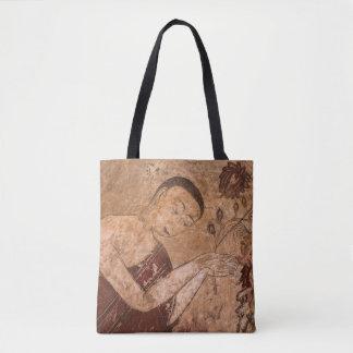 Bolsa Tote Pintura budista antiga