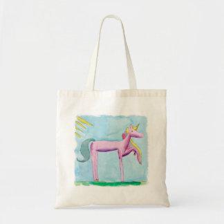 Bolsa Tote Pintura criançola da aguarela com cavalo do