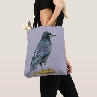 Bolsa Tote Pintura da aguarela do corvo