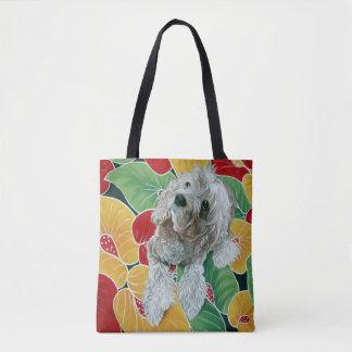 Bolsa Tote Pintura do cão de cocker spaniel do mel