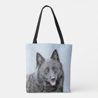 Bolsa Tote Pintura do Schipperke - arte original bonito do