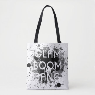 Bolsa Tote Pintura escura Splat do golpe Glam do crescimento