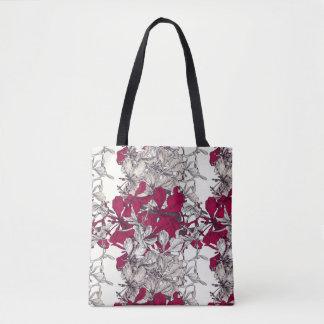 Bolsa Tote Pintura floral do vintage elegante da arte de