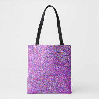 Bolsa Tote Pintura multicolorido da forma do brilho do grão