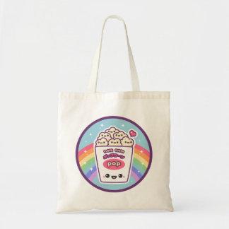 Bolsa Tote Pipoca do arco-íris de Kawaii