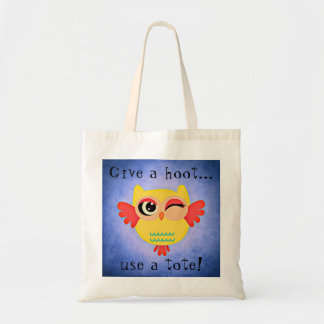 Bolsa Tote Pisc a coruja bonito dê uma sacola da buzina