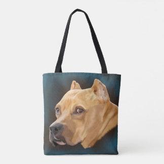 Bolsa Tote Pitbull vermelho Terrier