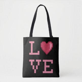 Bolsa Tote Pixéis Totebag do amor