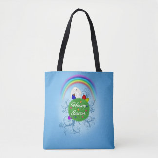 Bolsa Tote Planeta colorido do felz pascoa - sacola