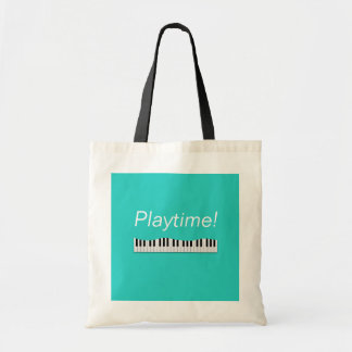 Bolsa Tote Playtime! Sacola do piano