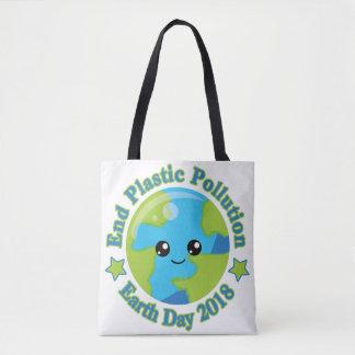 Bolsa Tote Poluição do plástico da extremidade do Dia da
