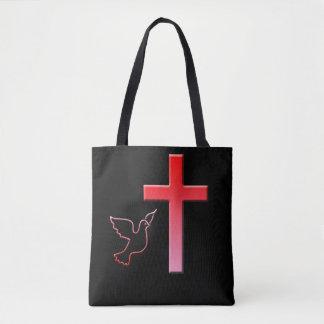 Bolsa Tote Pomba e cruz