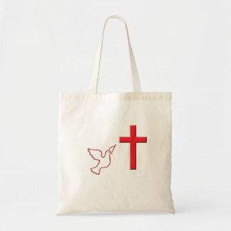 Bolsa Tote Pomba e cruz de voo