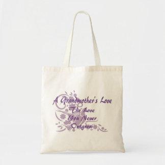 Bolsa Tote Pomba elegante da lavanda do amor da avó