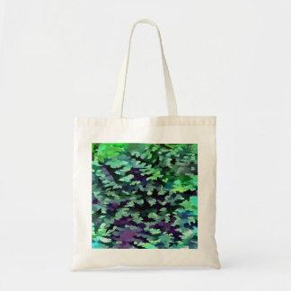 Bolsa Tote Pop art abstrato da folha no verde e no roxo de