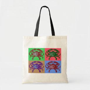 Bolsa Tote Pop art do caranguejo