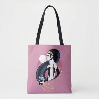 Bolsa Tote Pop art do perfil da mulher maravilha da liga de