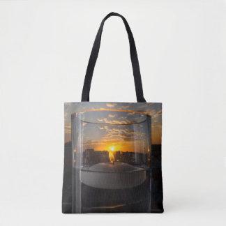 Bolsa Tote Por do sol da luz de vela