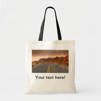 Bolsa Tote Por do sol da viagem por estrada