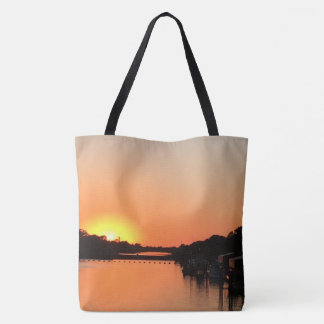 Bolsa Tote Por do sol sobre o rio