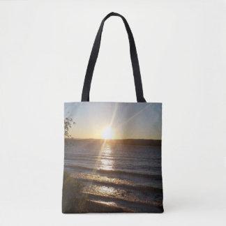 Bolsa Tote Por do sol sobre o Rio Columbia