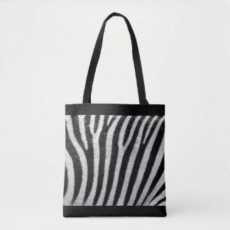 Bolsa Tote Por todo o lado no impressão da zebra