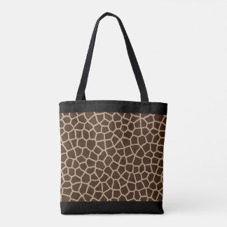 Bolsa Tote Por todo o lado no impressão do girafa