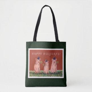 Bolsa Tote Porcos engraçados que vestem o saco do feriado dos