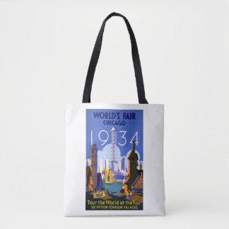 Bolsa Tote Poster 1934 da feira de mundo de Chicago