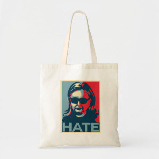 Bolsa Tote Poster do Obama-estilo do ódio de Hillary Clinton