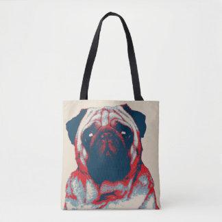 Bolsa Tote Poster retro da esperança do Woof do Pug