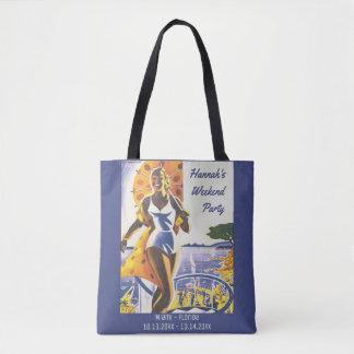 Bolsa Tote Poster vintage - fim de semana do Bachelorette da
