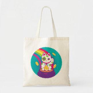 Bolsa Tote Pote de boa sorte de Maneki Neko do gato de ouro